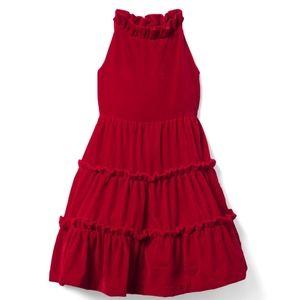 JANIE AND JACK Velvet Tiered Dress Girls Size 6